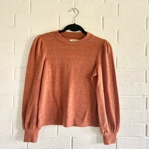 Madewell puff sleeve sweater!